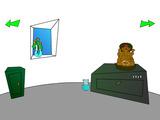 Un gato y tabla