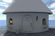 ポンポン星人 海の家