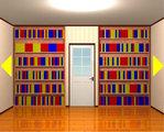 大量の本の部屋からの脱出