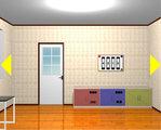 3色の棚の部屋からの脱出
